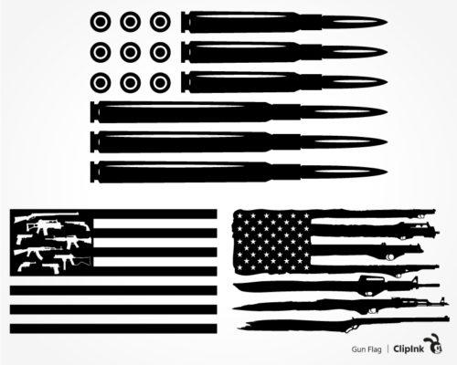 gun flag svg
