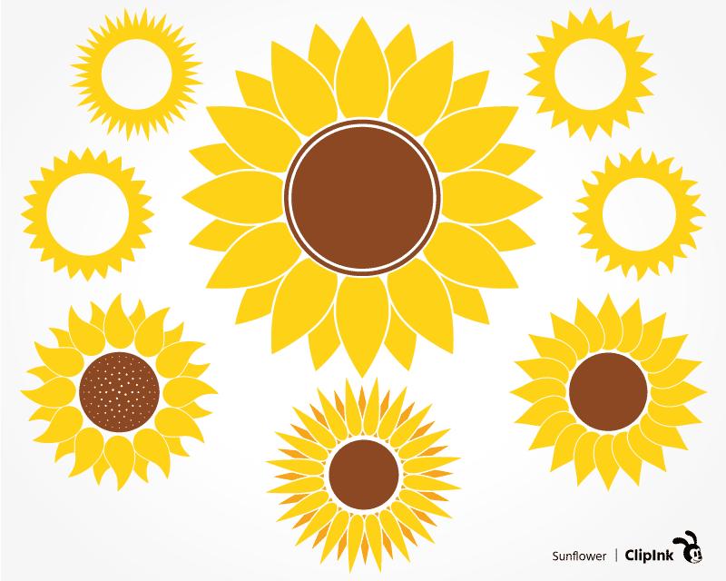 Download Sunflower svg, monogram svg | svg, png, eps, dxf, pdf ...